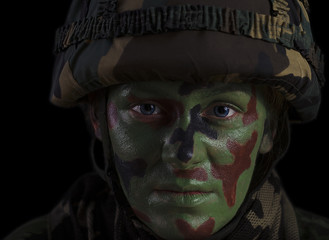 Female Soldier Face