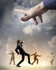 Business people marionette