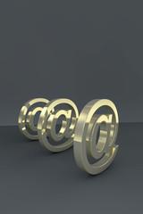 at symbols - 3D render
