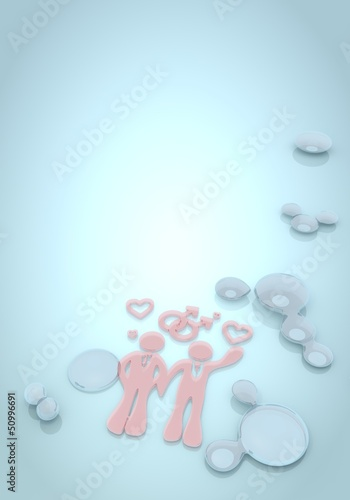 3d graphic of a polished homosexual icon