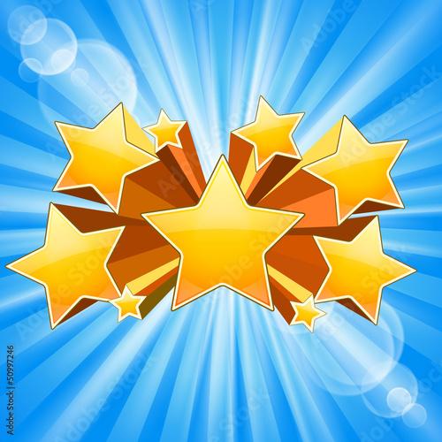 Fotobehang Licht, schaduw Star Burst Background