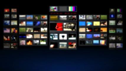 HD - Television studio. Blurred background