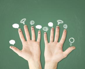 fingers with bubbletalks