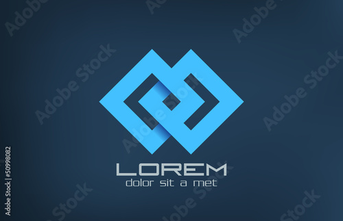 Logo loop fashion abstract. Cycle icon. Infinity..