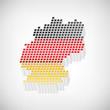 Deutschlandkarte extrudiert mit Nationalfarben