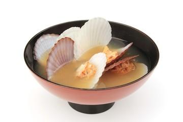 ホタテ貝の味噌汁