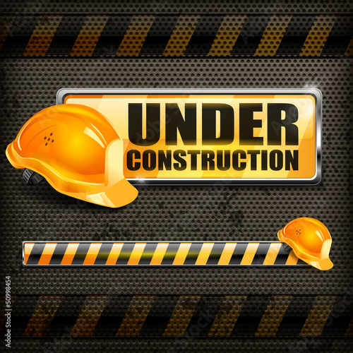 Under construction sign yellow