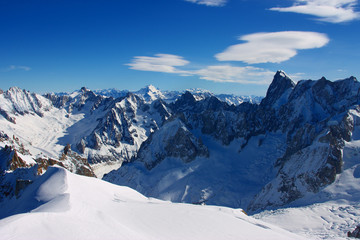 The Alps, view from Aiguille du Midi peak