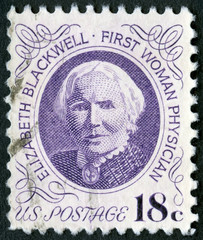 USA - 1974: shows portrait of Dr. Elizabeth Blackwell (1821-1910