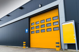 yellow loading door