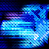 Blue rays light mosaic background.