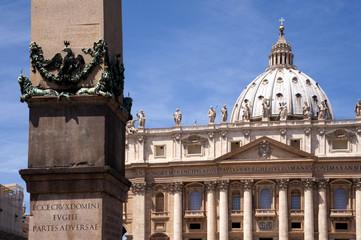 Rom Obelisk vor dem Petersdom Detail