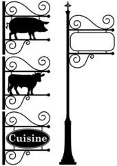 enseigne cuisine