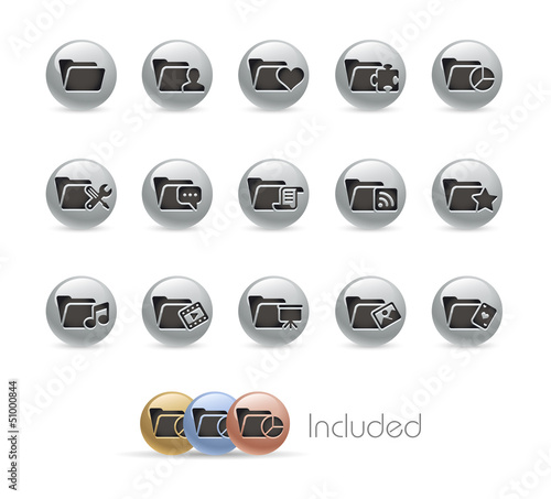 Folder Icons 2 of 2 / Vector includes 4 Colors