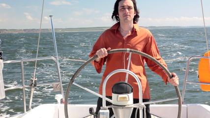 Yacht helmsman