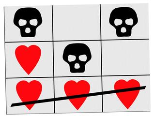 Love wins over death - concept, metaphor