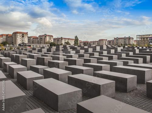 Leinwandbild Motiv Holocaust Gedenkstätte Berlin