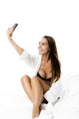 Sexy woman taking a picture