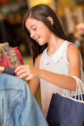 Cute girl shopping