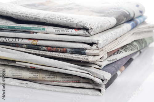 newspapers and eyeglass