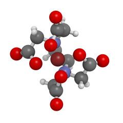 EDTA iron complex, molecular model