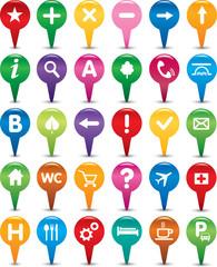 set of navigation icons