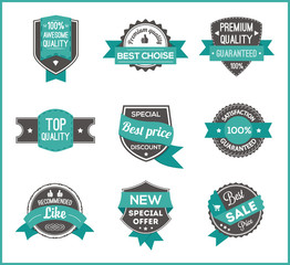 Turquoise label marketing (set of 3)