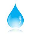 Blue vector water drop