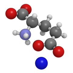 Sodium glutamate (umami flavor), molecular model