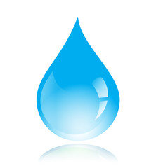 Blue vector water drop