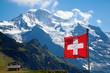 Leinwandbild Motiv Swiss flag