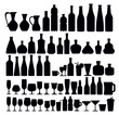 Detaily fotografie beverage and glass icons