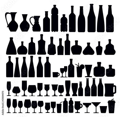 beverage and glass icons - 51004470