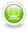 "Light Green Icon ""Desktop Computer"""