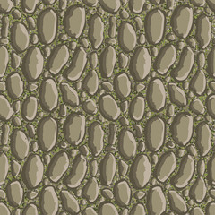 Stone seamless pattern - vector illustration