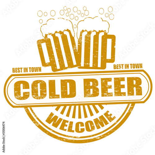 Cold beer stamp