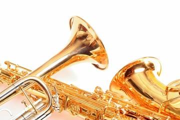 Trompete und Saxophon