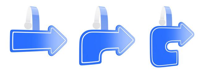 3d render of illustration wobbler as a symbol of the blue arrow