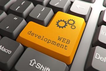 Keyboard with Web Development Button.