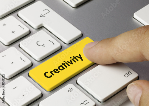Creativity keyboard key finger
