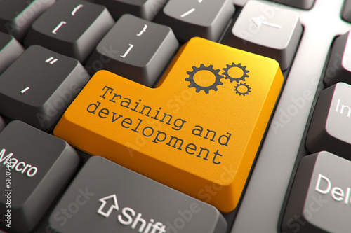 Keyboard with Training and Development Button.