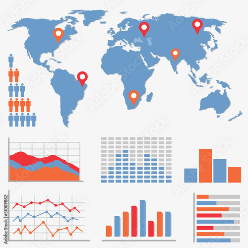 Infographics and statistics icons