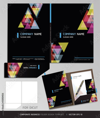 Corporate Identity Business Set. Folder Design Template. Vector