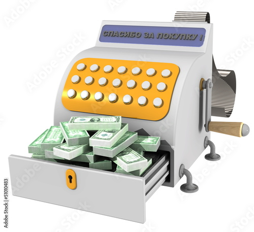Касса полная американских долларов