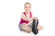 Junge Frau macht Sport