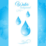 Water background with water drops poster