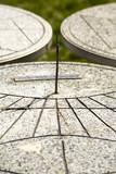 meridiana su tavolo di marmo poster
