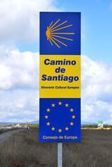 Road sign Camino de Santiago