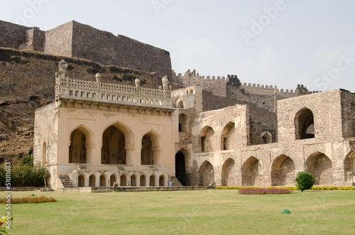 Golkonda fort lawn, India Poster