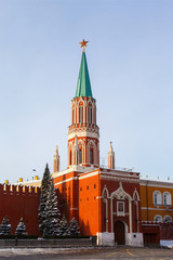 Nikolskaya tower of Moscow Kremlin